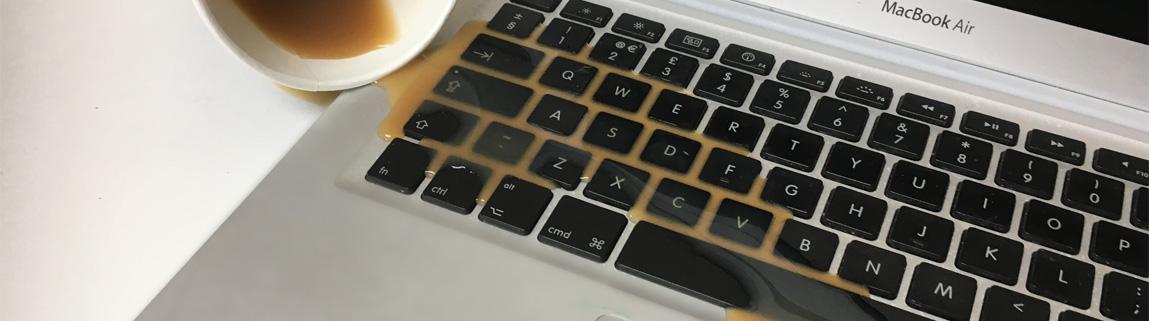 coffee damaged macbook